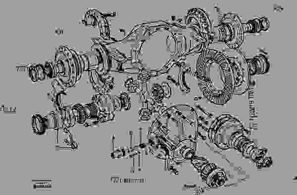 Parts scheme Final drive - differential lock - Motor Graders Volvo G700B - Power transmission Front axle, rear axle Differntial lock with control | 777parts