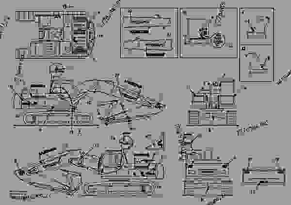 Parts scheme Decal, outer location - Excavators Volvo EC240 - Machinery house, cab, exterior trim parts anywhere Miscellaneous Instruction plate/decal, information plate/decal | 777parts
