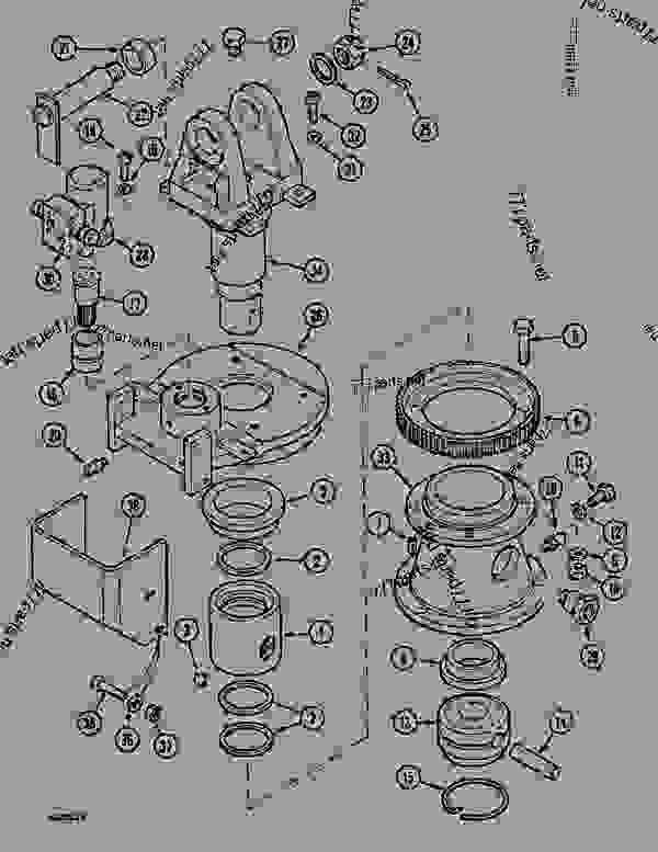 Parts scheme TURNING JOINT - HYDRAULIC SWING - CRAWLER DOZERS Case 1088 - CASE EXCAVATOR ATTACHMENTS (1/88-12/94) 07.1 HYDRAULIC ATTACHMENT COMPONENTS TURNING JOINT - HYDRAULIC SWING | 777parts