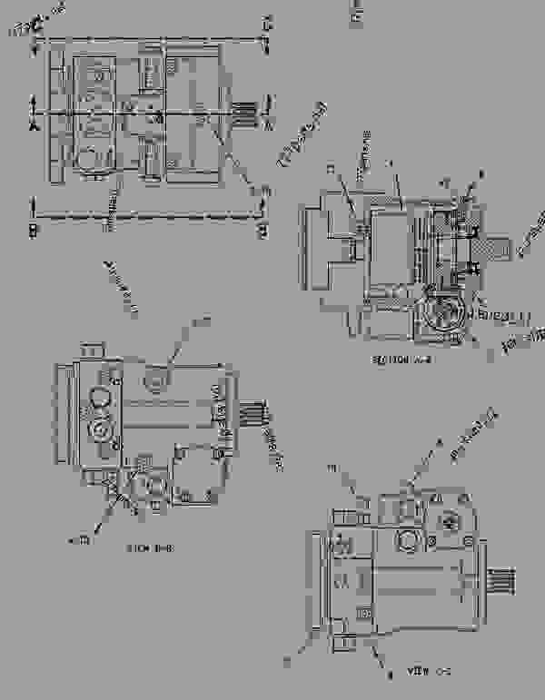 1991088 rotating group motor hystat propel track type. Black Bedroom Furniture Sets. Home Design Ideas