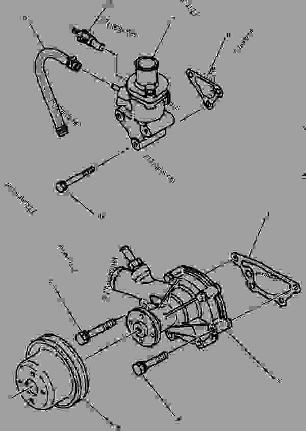 1992117 PUMP GROUP WATER MINI HYDRAULIC EXCAVATOR