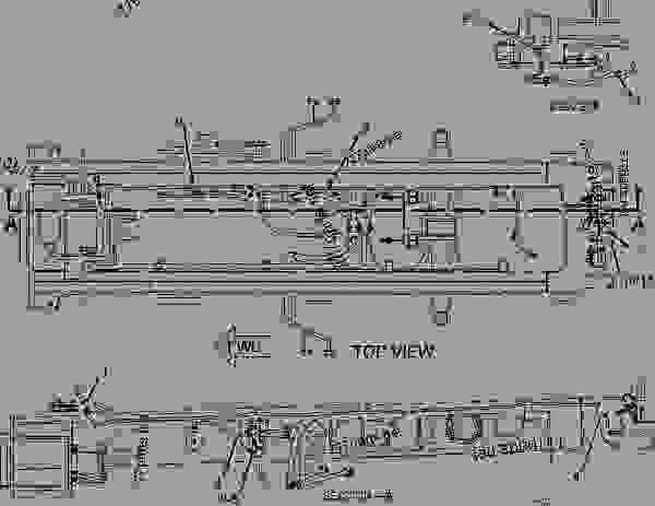 2416069 wiring group-rear - articulated dump truck caterpillar 740
