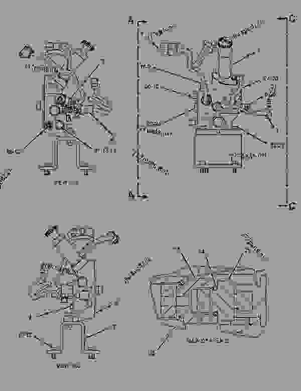 1490086 control group-governor - articulated dump truck caterpillar 740
