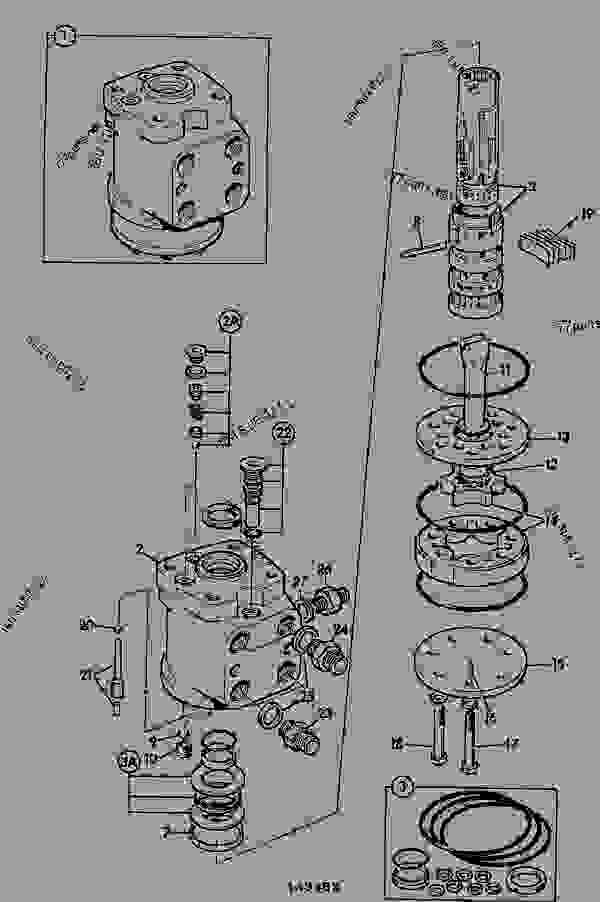 valve  steering - agricultural jcb 2cxu le