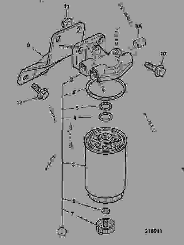 filter  fuel - construction jcb 4cx444  9800  m0930000