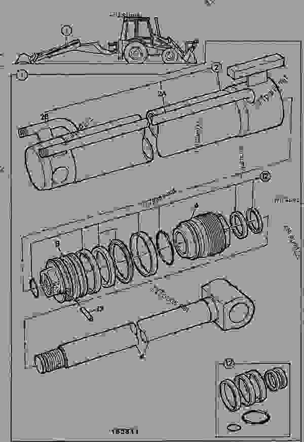 Bra RAM, EXTENSION, EXTRADIG DIPPER, 214, 215, 217 - CONSTRUCTION JCB QI-74