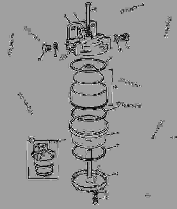 filter  fuel sediment  lh build - agricultural jcb 425