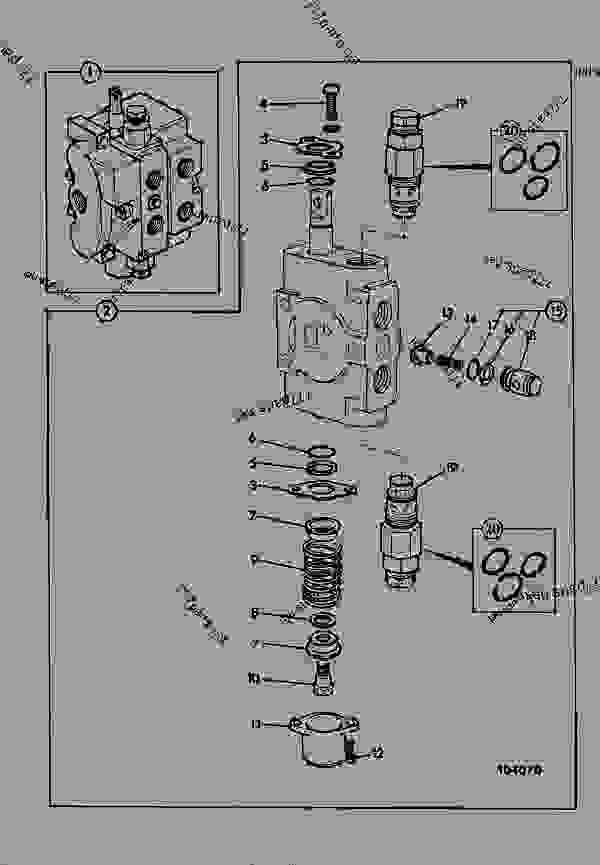 valve  section  excavator auxiliary - construction jcb 1550b-2