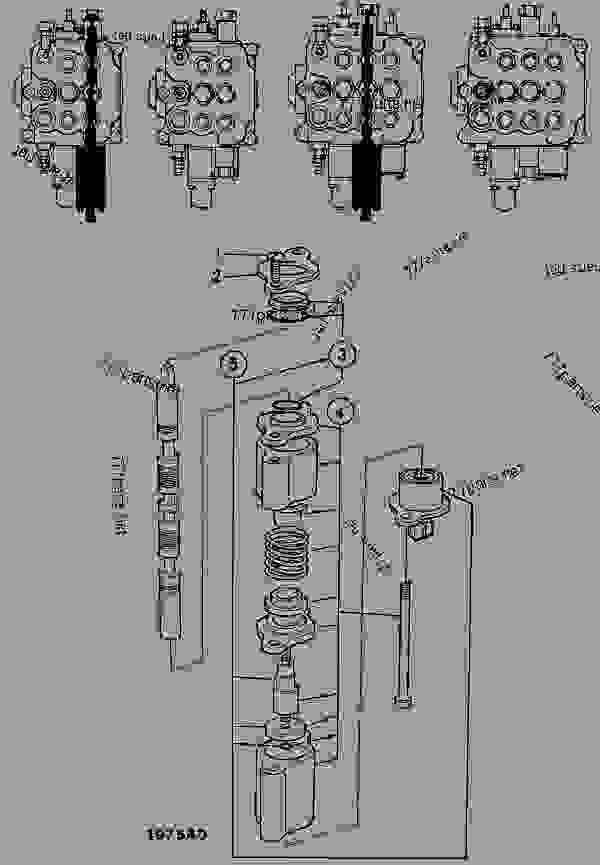 valve  spool  electric detent  loader valve
