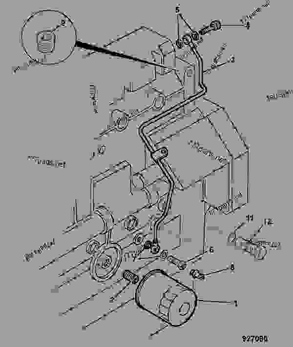 oil filter  pipework - construction jcb  208s