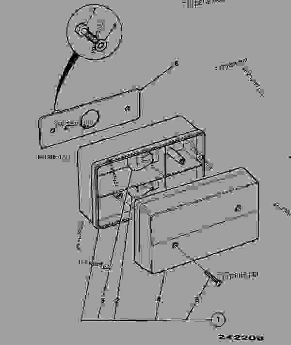 Construction Light Parts : Light rear construction jcb loadall