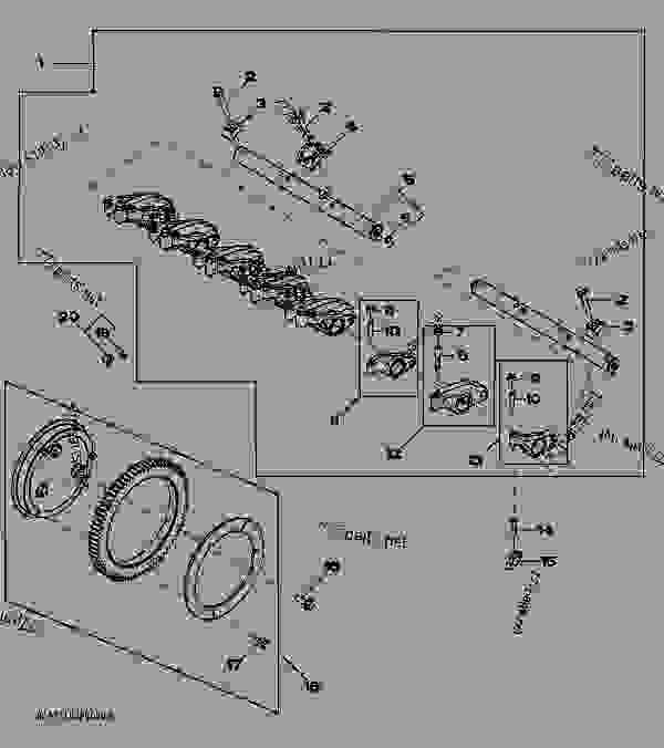 John Deere Push Rods : Rocker arms shaft and push rods tractor john deere