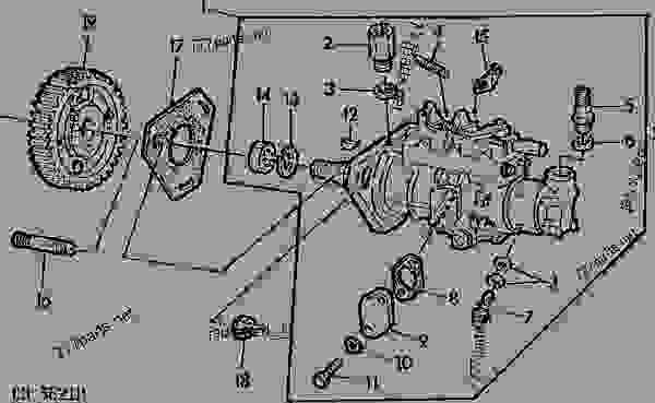 FUEL INJECTION PUMP [22] - TRACTOR John Deere 2750 - TRACTOR