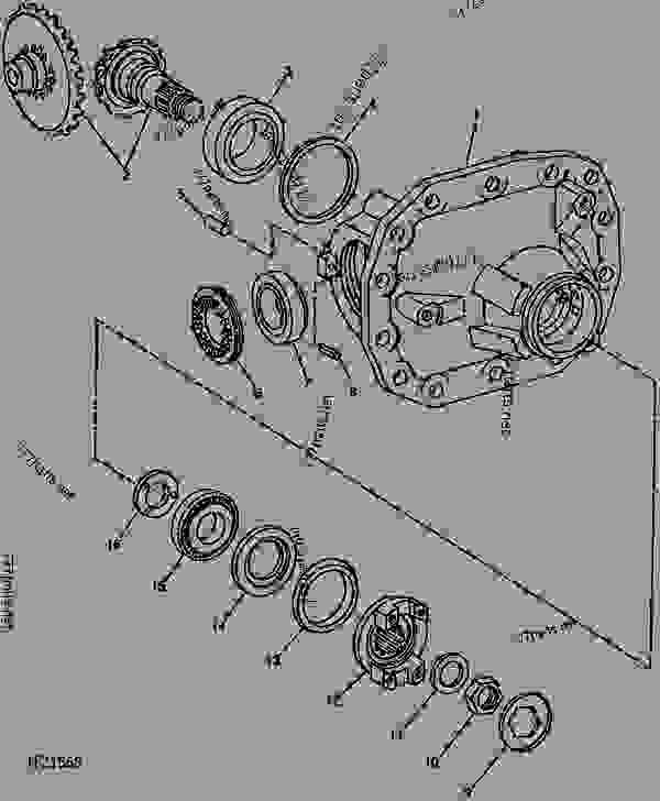 front axle differential housing   - 796033  - backhoe  loader john deere 310d