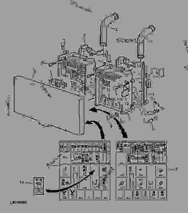 fuse box / symbols (cab) - tractor john deere 6210 ... wiring diagram for john deere 6310 #5