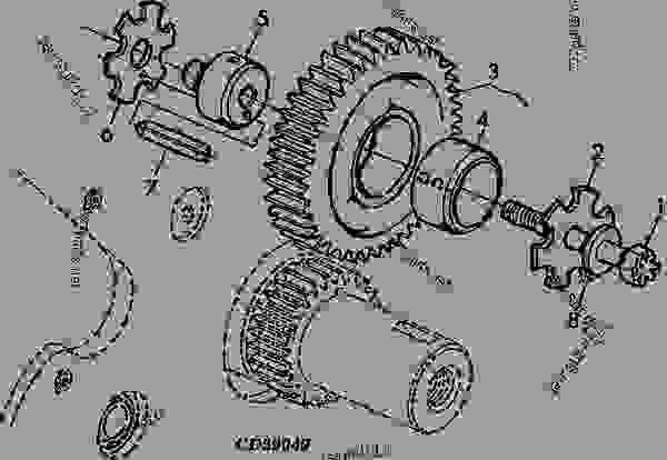 4404 Upper Idle Gear - ENGINE, POWERTECH John Deere