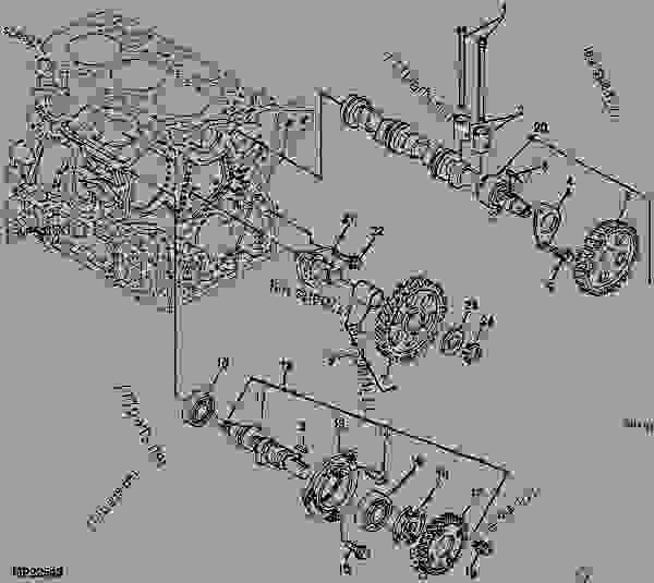 camshaft  6x4   diesel   engine marked 3tn66c