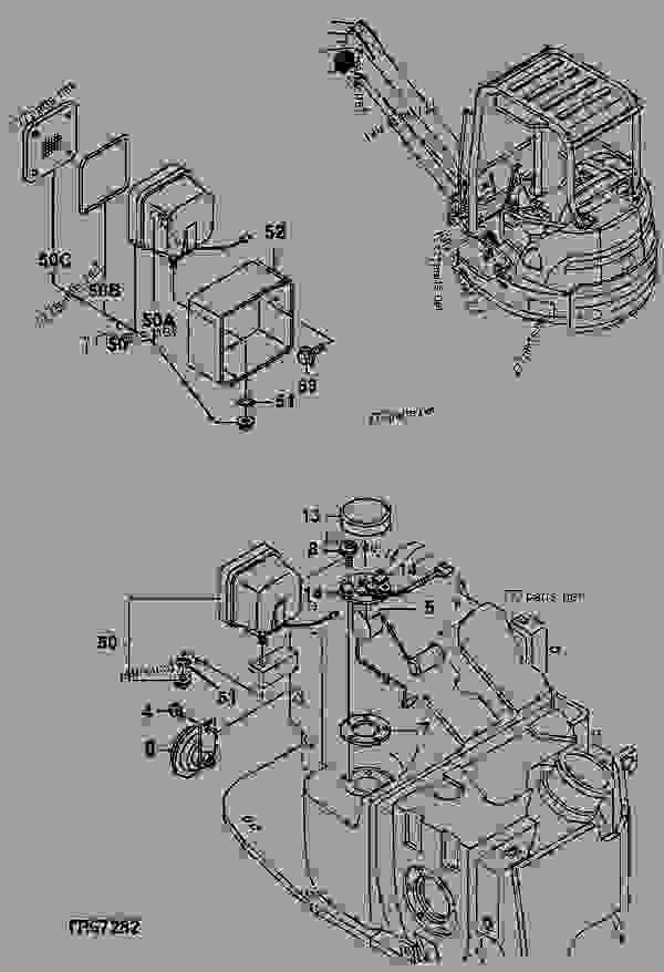 electric parts - excavator john deere 35zts