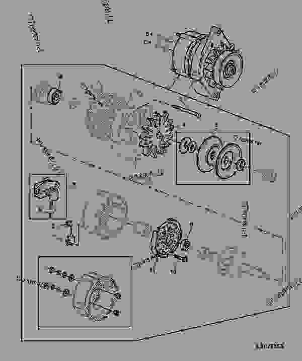 alternator  55a   6  - tractor john deere 2155