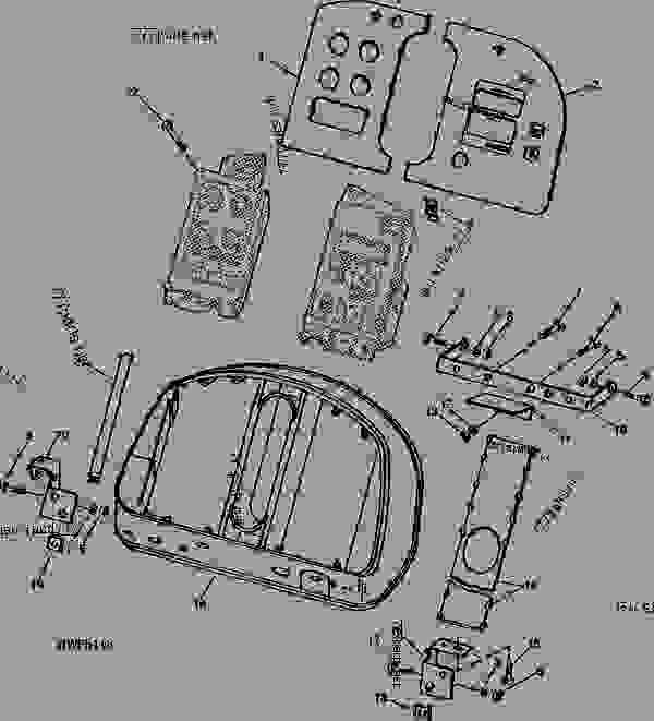 instrument panel - tractor john deere 8850