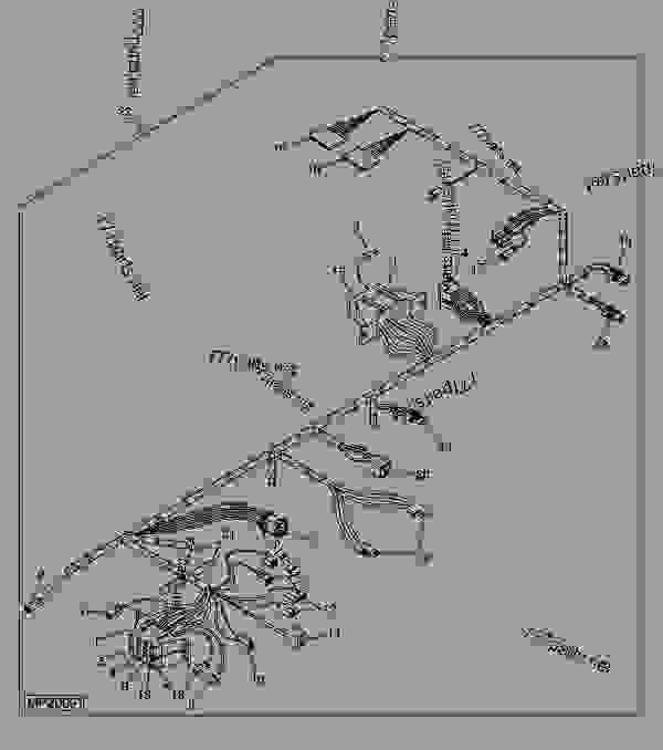 WIRING HARNESS (SN 030672-040214) - LOADER, SKID-STEER John ... on