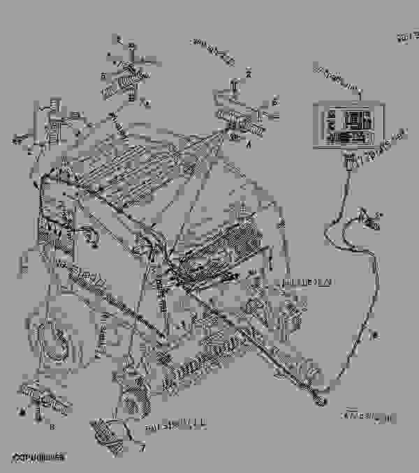 BALETRAK AND WIRING HARNESS - BALER, ROUND John Deere 568
