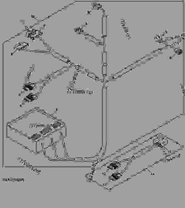 Wiring Harness  Autotrac U2122 - Tractor John Deere 8520 - Tractor