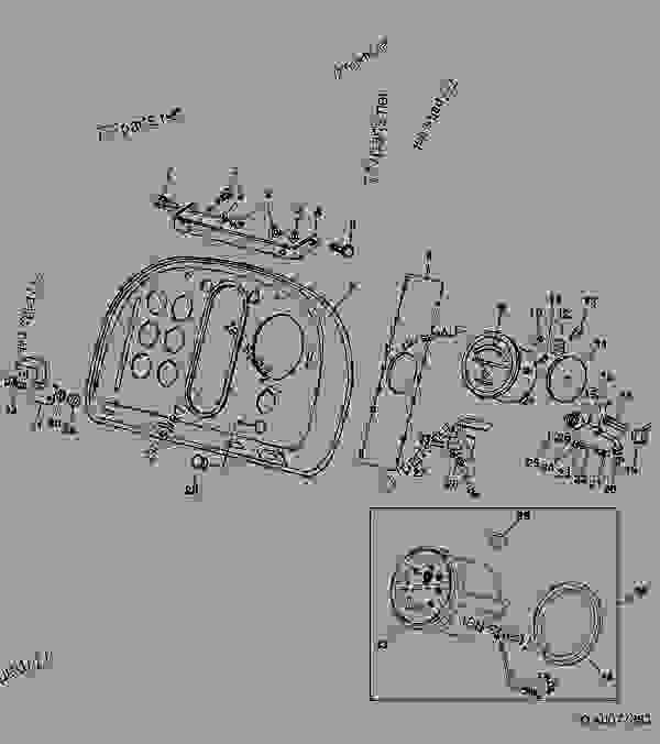 instrument panel 06j20 tractor john deere 4440. Black Bedroom Furniture Sets. Home Design Ideas