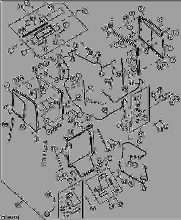 CAB ENCLOSURE W/ DOOR MOUNTED WIPER - LOADER, SKID-STEER ... on john deere trouble codes, john deere 4300 hood, john deere 318 mower wiring diagram, john deere 4210, john deere 250 specifications, john deere 317 parts diagram,