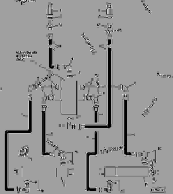 MARKER HYDRAULIC SYSTEM DRILL GRAIN John Deere 1590