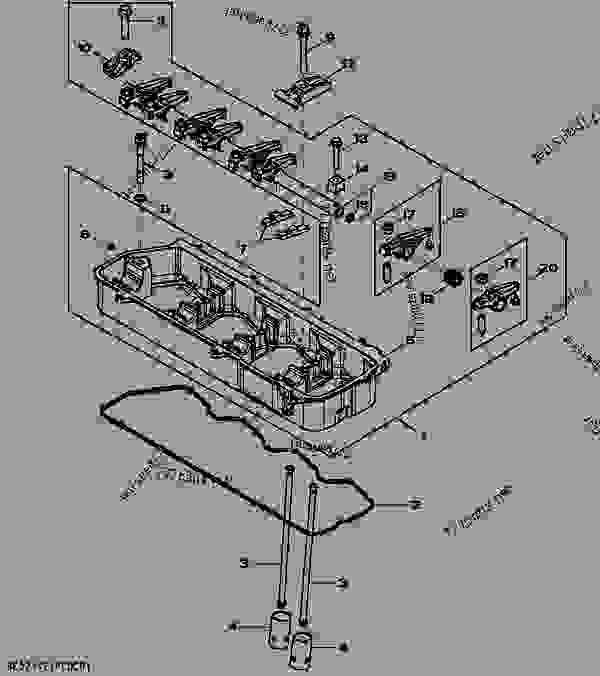 rocker arm    shaft    tappet    push rod  04g12  - engine  powertech plus john deere 4045