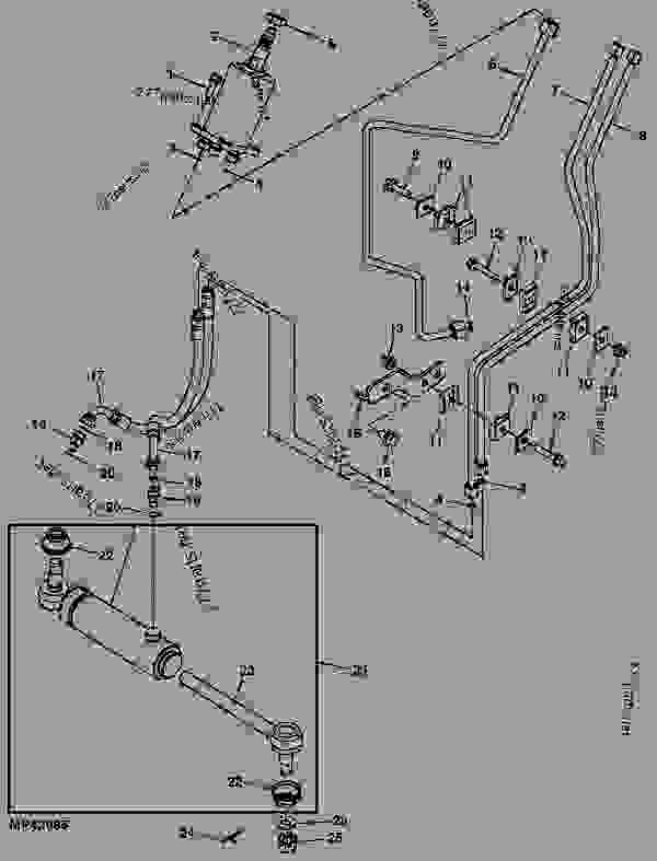 POWER STEERING LINES - TRACTOR, COMPACT UTILITY John Deere