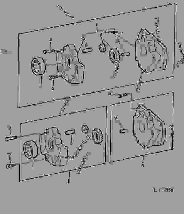 Transmission Oil Pump 02b17 Tractor John Deere 1830