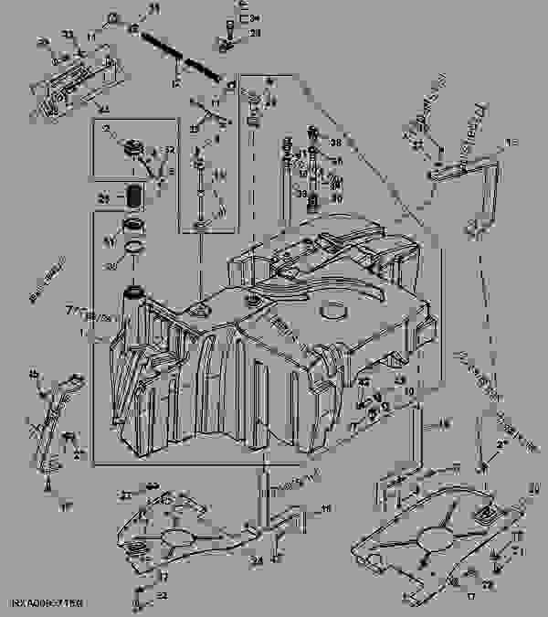 fuel tank   - 028163  - tractor john deere 8530