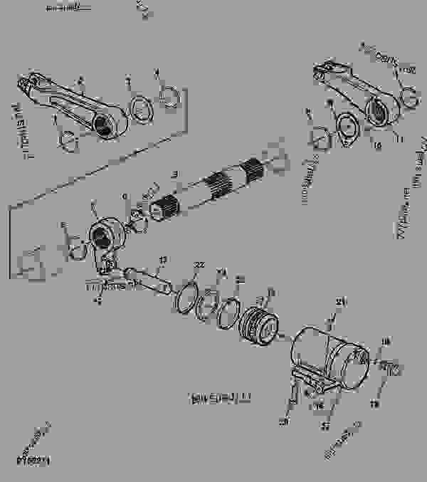 5065e John Deere Lift Arms : Rockshaft lift arms shaft and cylinder john deere