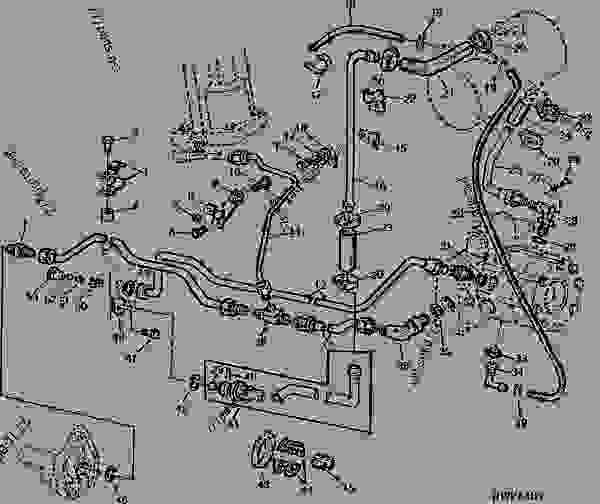 Hydraulic Oil Lines  02b18  - Tractor John Deere 2040 - Tractor