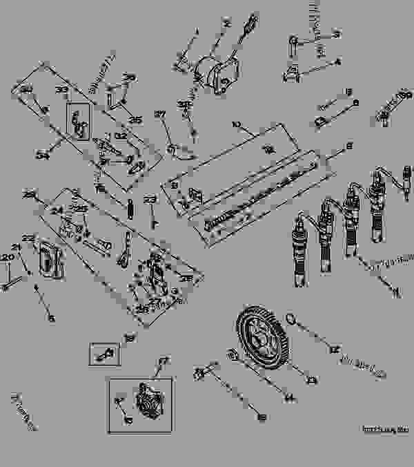 1632 fuel injection pump engine, powertech john deere  jd 4024 runs wide open