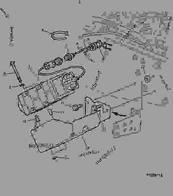 radar sensor  cab  - tractor john deere 6310