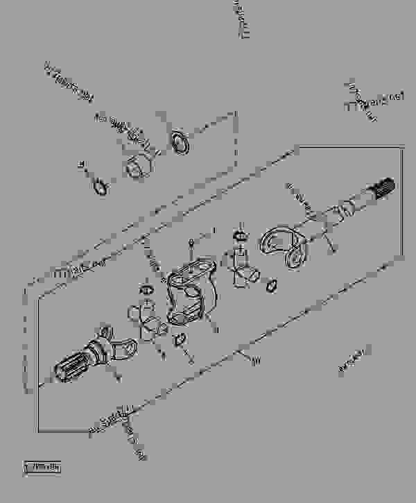 Tractor Drive Shaft Parts : Mfwd drive shaft engine powertech john deere tlv