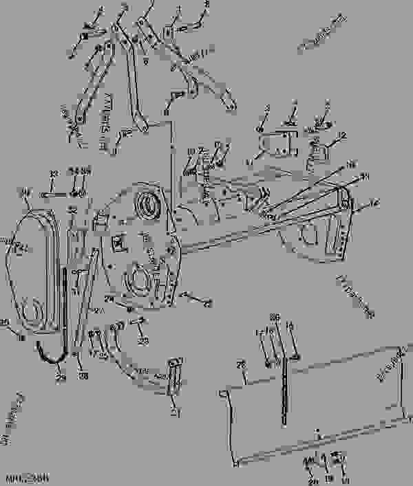 John Deere 450 Tiller Parts Diagram