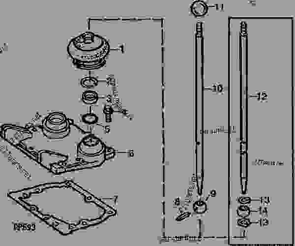 Transmission Top Cover And Shift Lever 01j03 Tractor