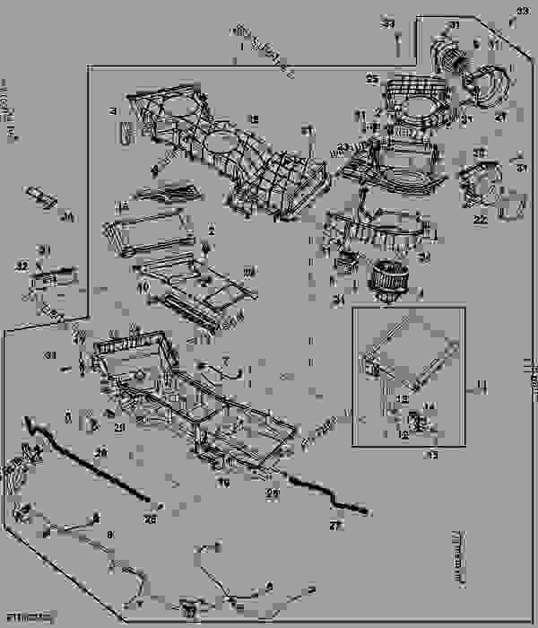 hvac module - combine john deere s670 hillmaster