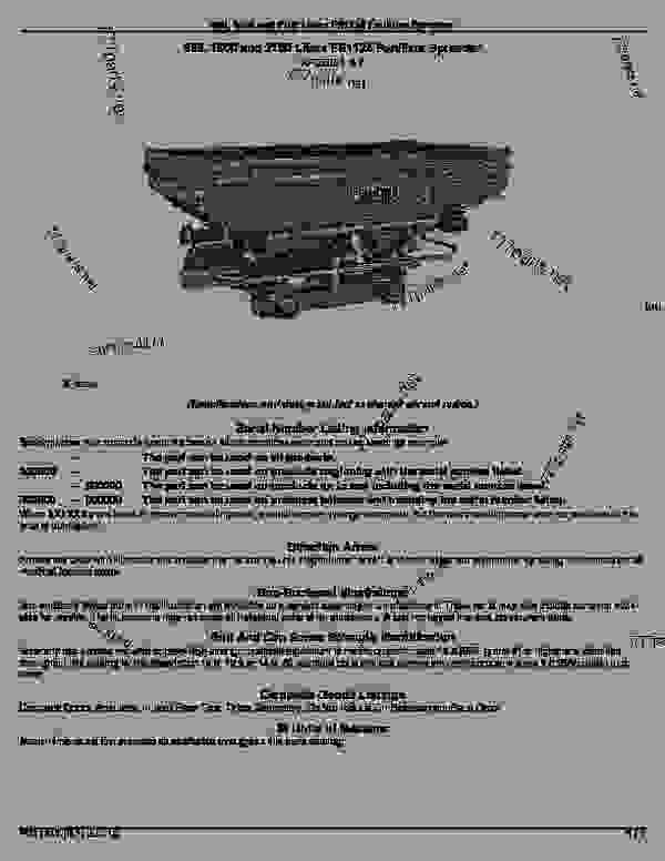 Parts Scheme Fs1124 Fertilizer Spreader Frontier Introduction Distributor John Deere