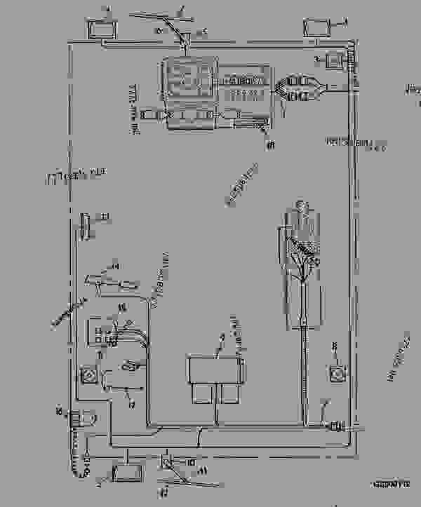 CAB - WIRING HARNESSES AND ELECTRICAL SYSTEM [01D23] - TELESCOPIC HANDLER John  Deere 4500 - TELESCOPIC HANDLER - 4400, 4500 Telescopic Handler 40  ELECTRICAL COMPONENTS CAB - WIRING HARNESSES AND ELECTRICAL SYSTEM [01D23]    777parts777parts