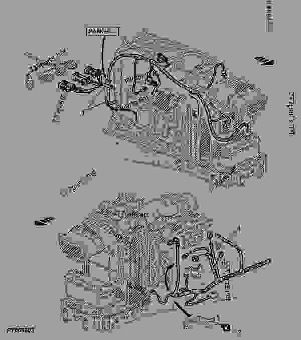 engine wiring harness  with tier ii engine  open operator
