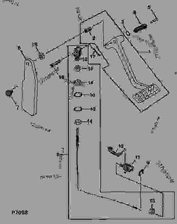 piezas del accionamiento del embrague  pedal de embrague