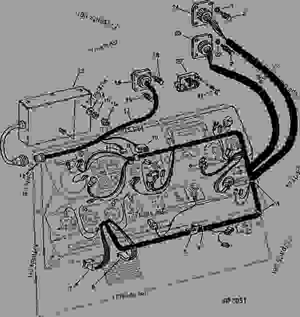 INSTRUMENT PANEL    WIRING    HARNESS AND LOW SHAFT SPEED MONITORING CONTROL BOX  DIALAMATIC HEADER