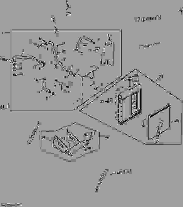 2748 radiator - power unit john deere 4045hfu81
