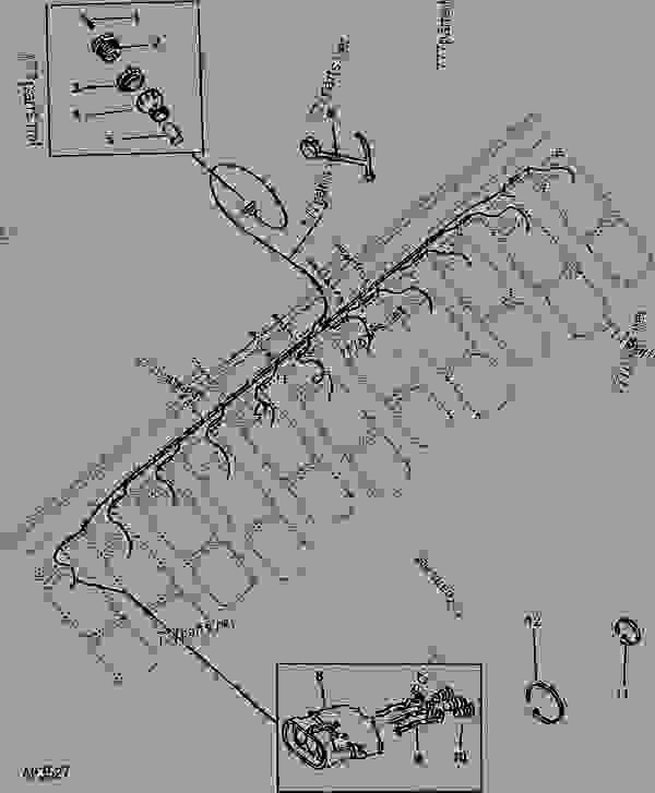 wiring harness integral planters planter attachment john deere rh 777parts net