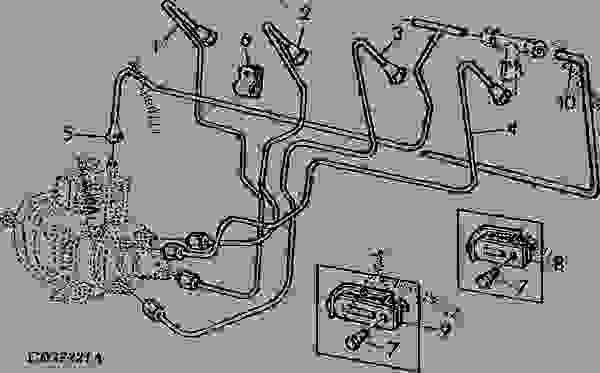 FUEL LINES FOR STANADYNE FUEL INJECTION PUMP EARLY DESIGN